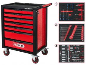 Wózek narzędziowy 7 szuflad RACING-Line 215 części KsTools