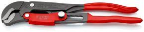 Klucz nastawny do rur ze szczękami typu S z przyciskiem szybkiej regulacji Malowane proszkowo, szare, z tworzywa sztucznego, powlekane 330 mm Knipex