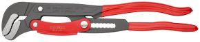 Klucz nastawny do rur ze szczękami typu S z przyciskiem szybkiej regulacji Malowane proszkowo, szare, z tworzywa sztucznego, powlekane 420 mm Knipex