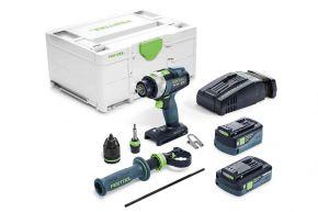 Akumulatorowa wiertarko-wkrętarka udarowa QUADRIVE TPC 18/4 5,2/4,0 I-Plus-SCA Festool
