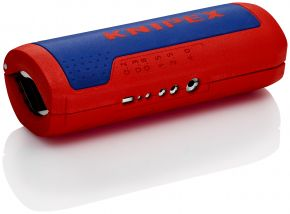 KNIPEX TwistCut® Obcinak do rur falistych + ostrza do ściągania izolacji 100 mm SB Knipex