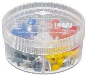 Zestawy w pudełku z tulejkami kablowymi izolowanymi (50x4mm² + 20x6mm² + 20x10mm² + 10x16mm²) Knipex
