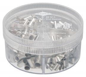 Zestawy w pudełku z tulejkami kablowymi nieizolowanymi (150x4mm²+75x6mm²+75x10mm²+50x16mm²) Knipex