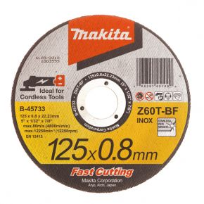 Tarcza tnąca do met./stali nierdz. 0.8mm 125mm Makita