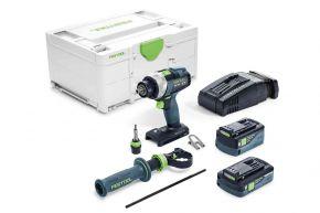 Akumulatorowa wiertarko-wkrętarka QUADRIVE TDC 18/4 5,2/4,0 I-Plus-SCA Festool