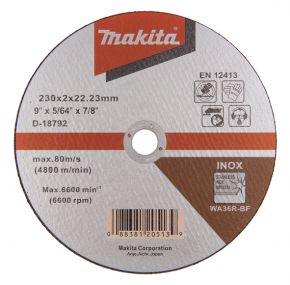 Tarcza tnąca inox 230x2mm WA36R (płaska) Makita