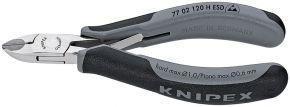 Szczypce tnące boczne ESD dla elektroników z ostrzami z węglików spiekanych Knipex 120 mm 7702120HESD