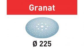 Krążki ścierne STF D225/128 P320 GR/5 Granat Festool