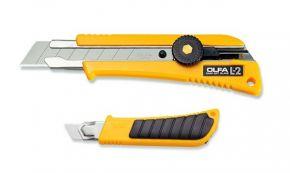 Nóż segmentowy z wkładką antypoślizgową L-2 Olfa