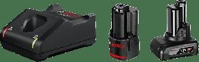 1 akumulator GBA 12V 2.0Ah + 1 akumulator GBA 12V 4.0Ah + ładowarka GAL 12V-40 Professional