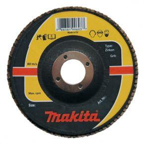 Ściernica płytkowa zirkon 125x22.23mm K80 Makita