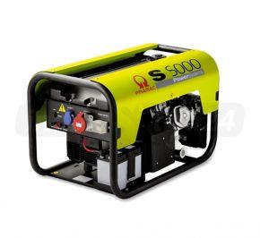 Agregat prądotwórczy jednofazowy Pramac S5000 AVR z zabezp. różnicowo-prądowym i CONN Benzyna