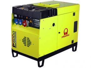 Agregat prądotwórczy jednofazowy Pramac P6000 AVR z zabezp. różnicowo-prądowym i CONN Diesel