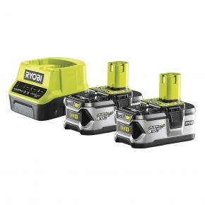 RC18120-240 Zestaw akumulator x2 4.0Ah 18V + ładowarka RC18120-240 Ryobi