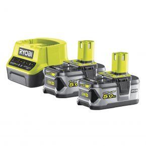 RC18120-250 Zestaw akumulator x2 5.0Ah 18V + ładowarka RC18120-250 Ryobi