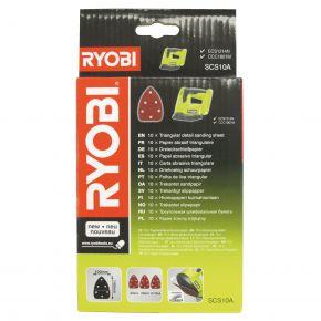 SCS10A1 Zestaw 10 szt. papierów ściernych Ryobi