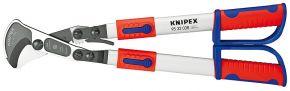 Nożyce do kabli (z mechanizmem zapadkowym) z ramionami teleskopowymi Knipex 570 mm 9532038
